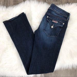 Hudson Dark Wash Baby Boot Cut Jeans Flap Pockets